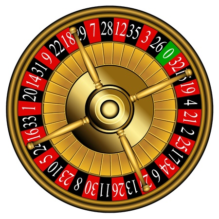 roulette table: Roulette wheel