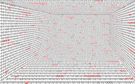 cryptic: Technology bintary background Illustration