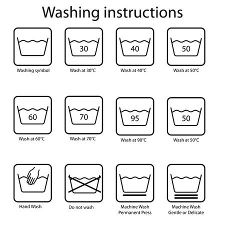 Washing instruction Vector
