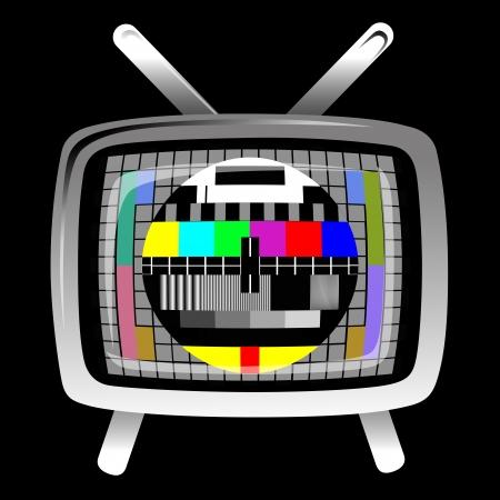 tv - color test pattern - test card Vector