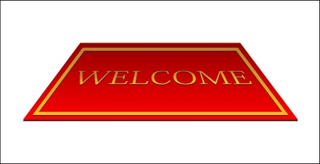 welcome red carpet Vector