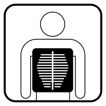 radiography: X ray symbol