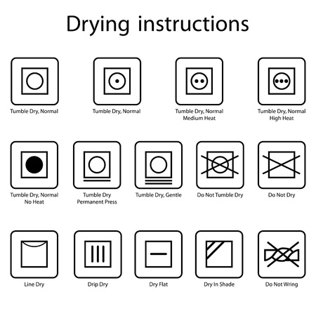 Drying instruction Vector