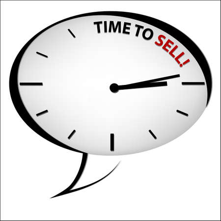 Clock Time to sell Vector