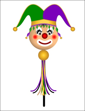 nose ring: court jester doll