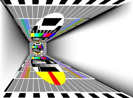hall monitors: room with tv Illustration