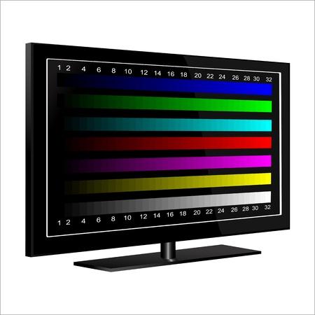 16 9: tv - color test pattern - test card