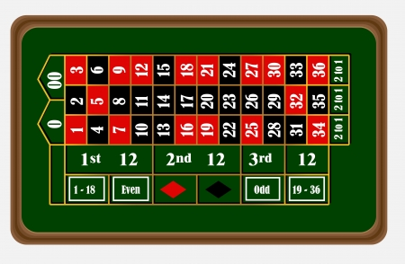 roulette table: Roulette board