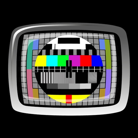 tv - color test pattern - test card Stock Vector - 22066748