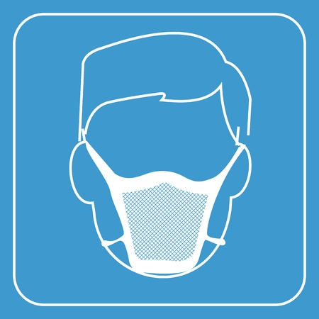 hospital mask-safety equipment  symbol photo