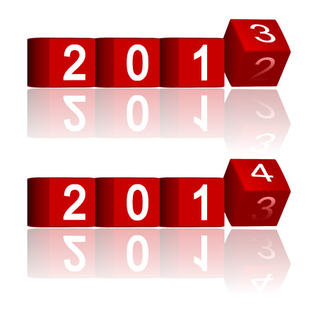 2012-2013-2014 passing years, vector Stock Vector - 22590550