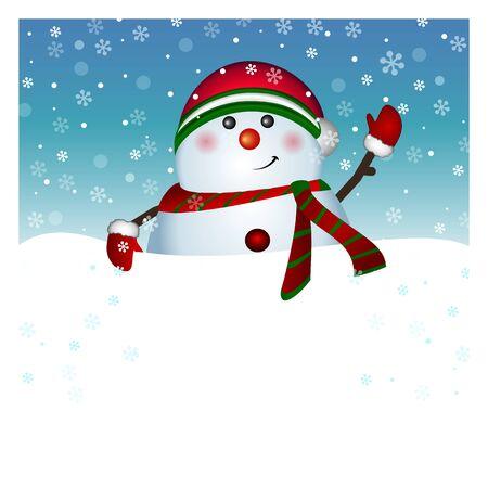 Snowman card, vector Vector