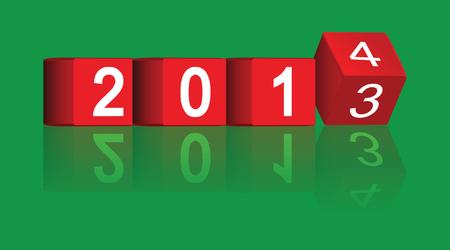 passing: cubo paso de los a�os 2013-2014, vector