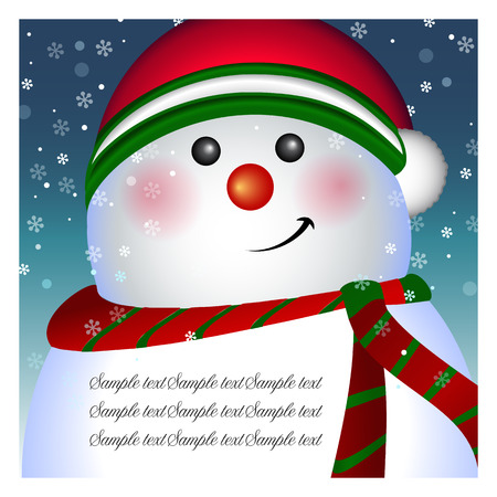 Snowman card, banner - background, vector Vector