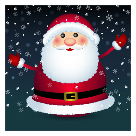 Santa claus on white background, vector