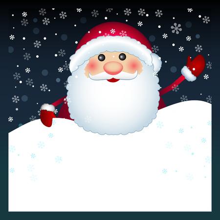 Santa Claus card, vector  Illustration