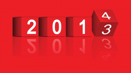 yearly: cubo paso de los a�os 2013-2014, vector