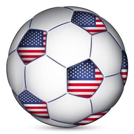 soccer ball: American soccer ball, vector Illustration