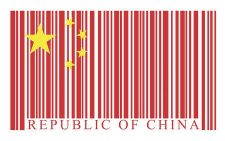 China barcode flag, vector Vector