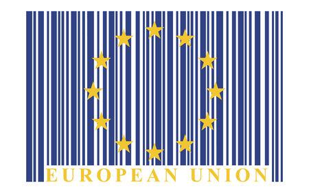 eu: EU barcode flag, vector