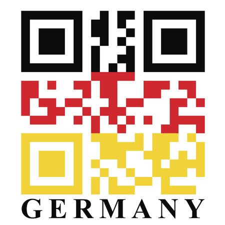 quick response: Germany QR code flag, vector