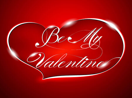 "Red Greeting Card ""Be My Valentine"", vector Vector"