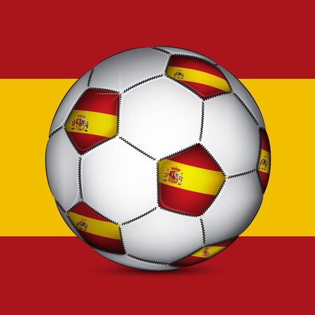 Spanish soccer ball, vector Vector