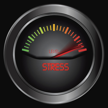 Stress meter indicate, vector photo