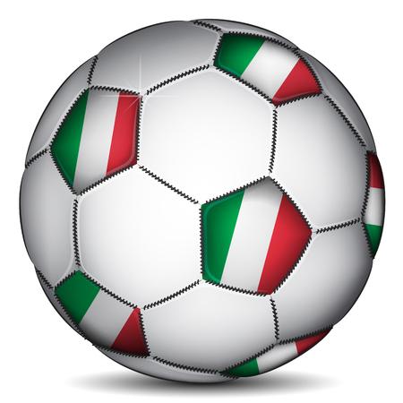 Italy soccer ball, vector photo