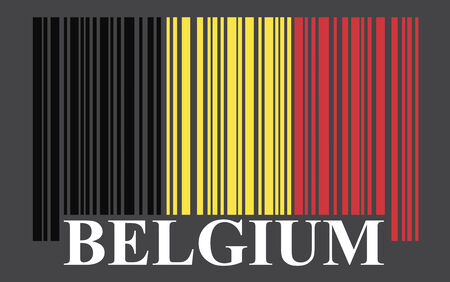Belgium barcode flag, vector photo