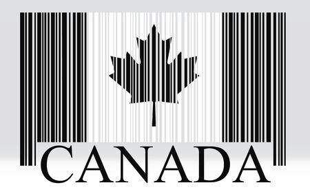 Canada barcode flag, vector photo