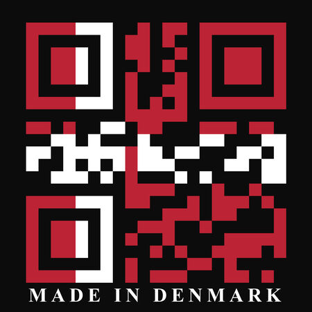 quick response: Denmark QR code flag, vector Stock Photo