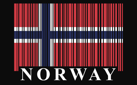 Norway barcode flag, vector photo