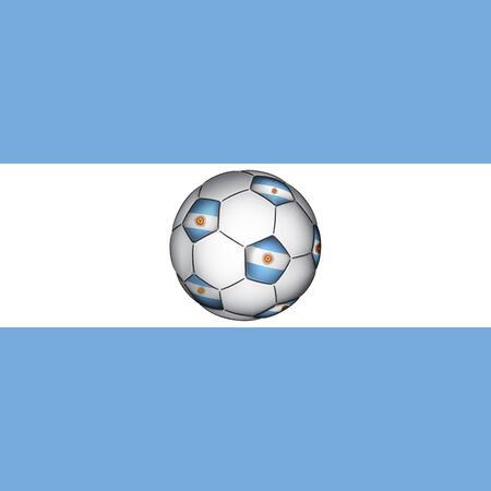 argentina flag: Argentine soccer ball, vector Illustration