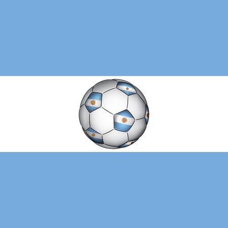 bandera argentina: Balón de fútbol argentino, vector
