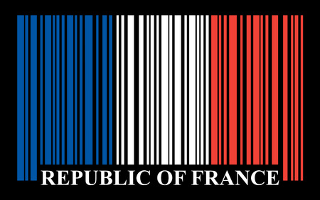 French barcode flag, vector Vector