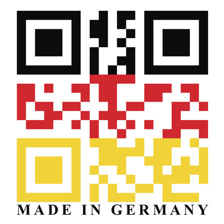 quick response code: Germany QR code flag, vector