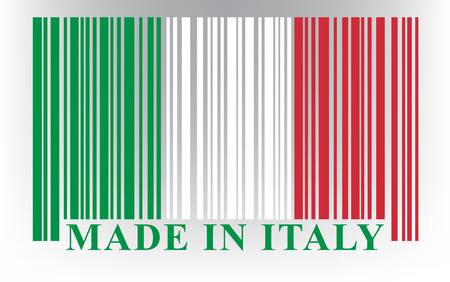 Italian barcode flag, vector