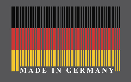 Germany barcode flag, vector Vector