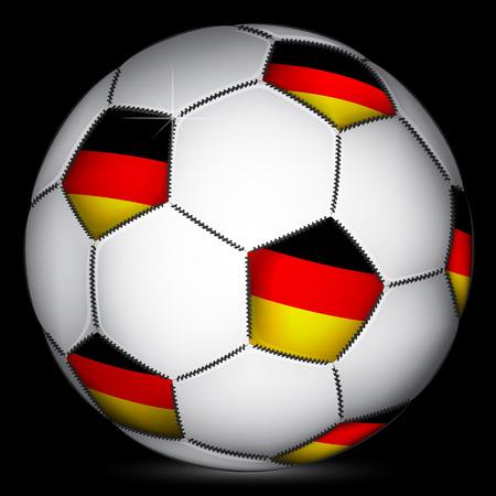 germanic: Germany soccer ball, vector
