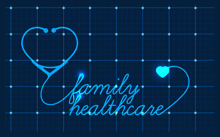healthcare and medical: Family healthcare, medical symbol, vector Illustration