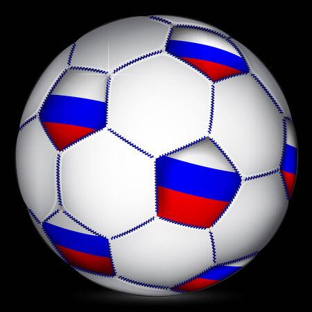 european championship: Russian soccer ball, vector
