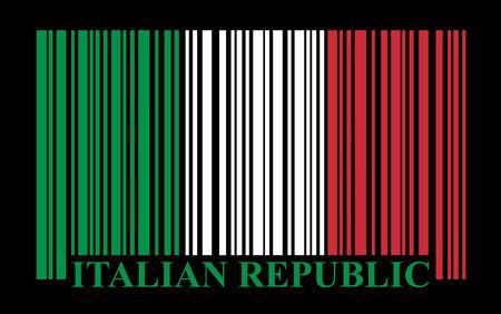 Italian barcode flag, vector Stock Vector - 29975417