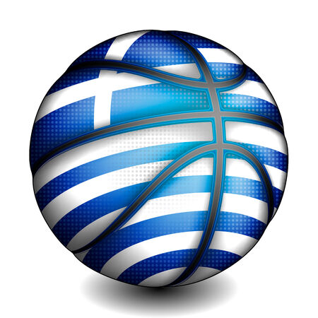 basket ball: Greeks basket ball, vector