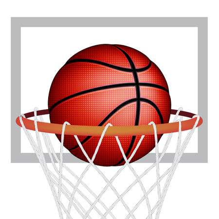 international basketball: Basketball ball, vector