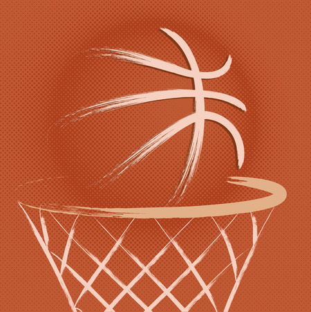 basketball hoop: Basketball, vector Illustration