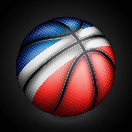 basket ball: Baloncesto franc�s, vector