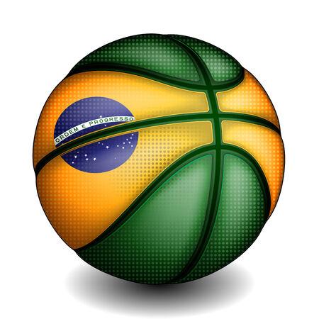 Baloncesto brasileño, vector Foto de archivo - 31078304