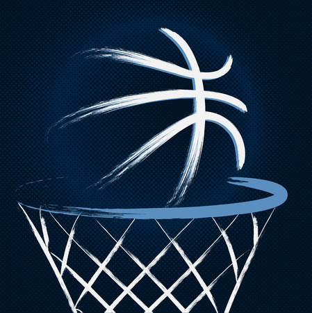 Basketbal, vector Stock Illustratie