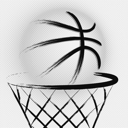 hoops: Basketball, vector Illustration